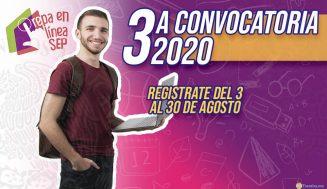 Prepa en Línea SEP Tercera Convocatoria 2020